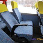 Автобус Iveco, как раскладываются сиденья